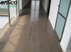 Indoor Floor Paving Of Coffee Sandstone Vein Cut Im