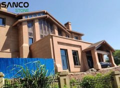 Villa Construction Case Of Pink Sandstone